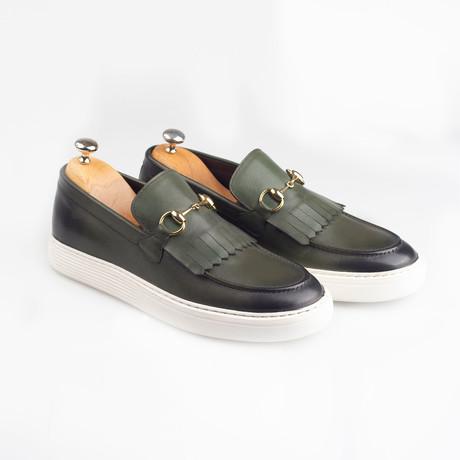 Horsebit Leather Tassle Slip-On Sneakers // Green (Euro: 38)
