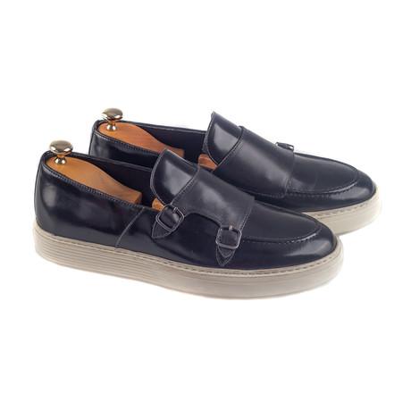 Double Monk Strap Sneakers // Black (Euro: 38)