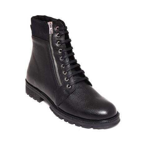 Zip-Up Combat Boots // Black (Euro: 38)