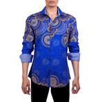 Noah Long Sleeve Button Up Shirt // Navy (L)