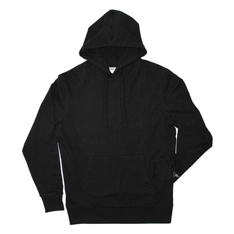 French Terry Pullover Hoodie // Black (S)