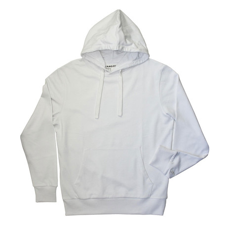 French Terry Pullover Hoodie // White (S)