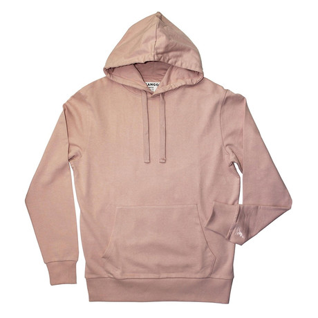 French Terry Pullover Hoodie // Balmy Pink (S)