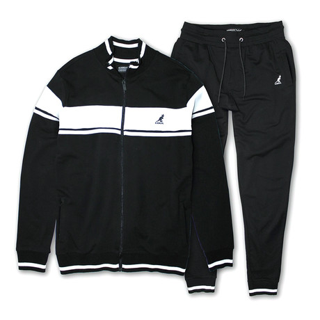 French Terry Full Zip + Jogger Set // Black (S)