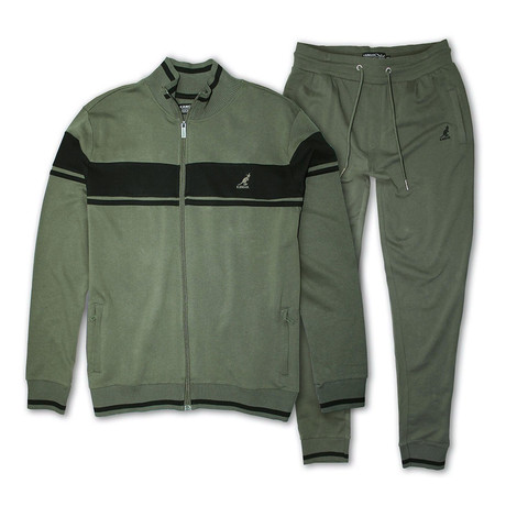 French Terry Full Zip + Jogger Set // Olive (S)