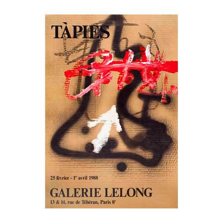 Antoni Tapies // Galerie Lelong // 1988 Lithograph