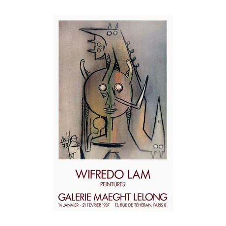 Wifredo Lam // Peintures // 1987 Offset Lithograph