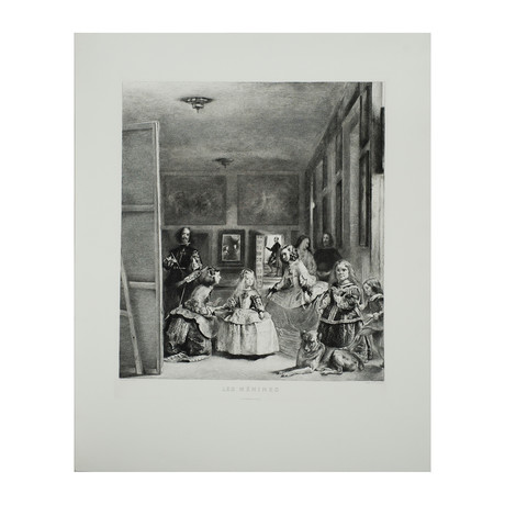 Diego Velazquez // Les Menines // Etching