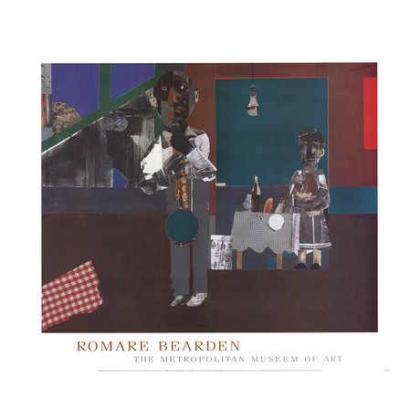 Romare Bearden // The Woodshed // 1981 Offset Lithograph