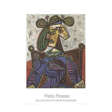 Pablo Picasso // Femme Assise Dans Un Fauteuil // 1995 Offset Lithograph