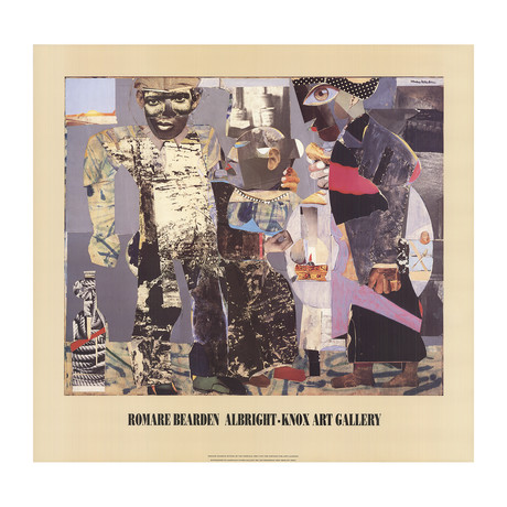 Romare Bearden // Return of the Prodigal Son // 1991 Offset Lithograph