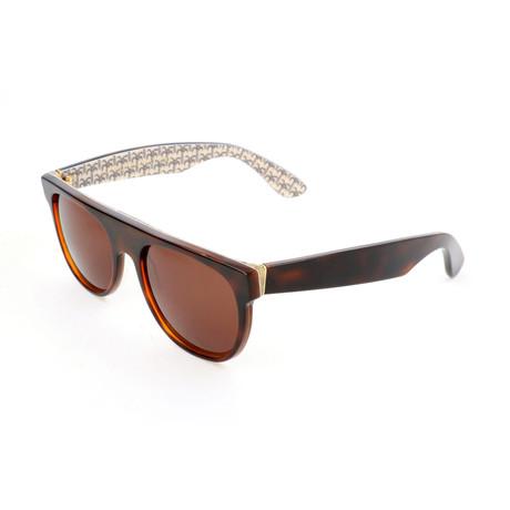 Unisex Flat Top Miracolo Sunglasses // Havana