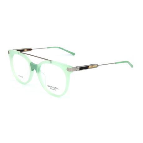 Women's CKNYC1871 Optical Frames // Milky Light Green