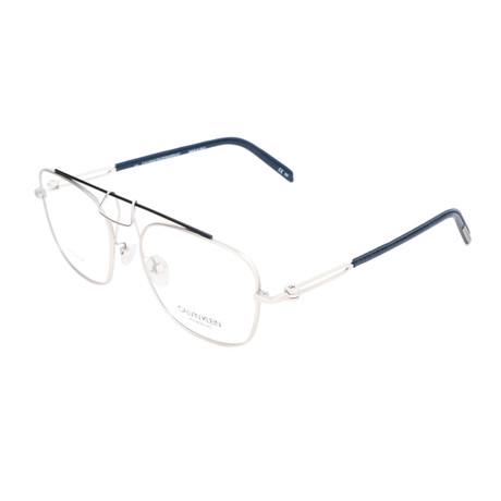 Men's CKNYC1810 Optical Frames // Silver