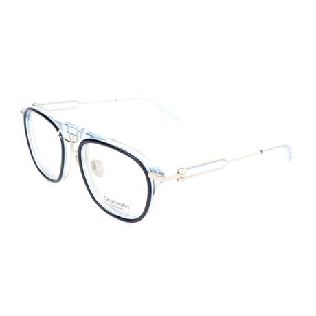 Men's CKNYC1883 Optical Frames // Navy + Crystal Light Blue