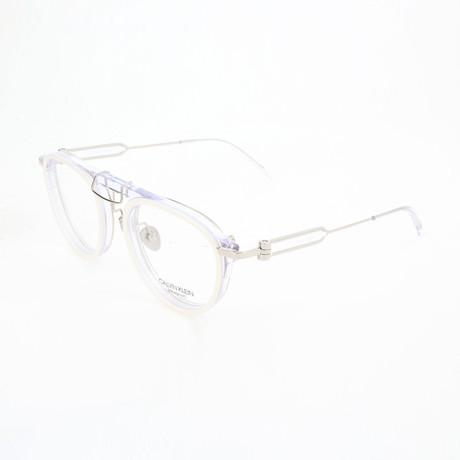 Women's CKNYC1884 Optical Frames // White + Crystal
