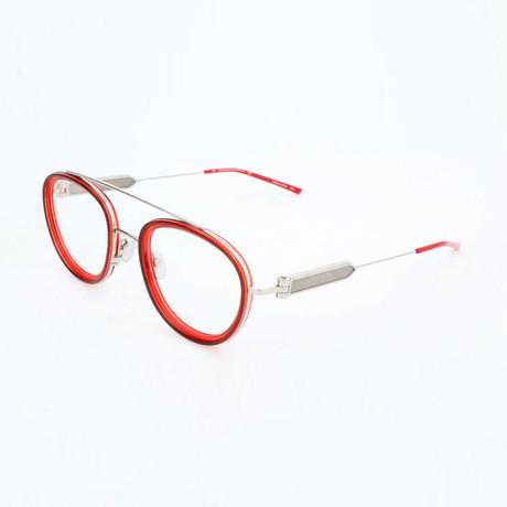 Women's CKNYC1916 Optical Frames // Oxblood + Crystal Red