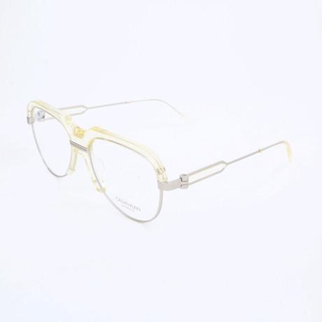 Men's CKNYC1970 Optical Frames // Crystal Pale Yellow