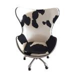 Aviator Egg Office Chair // Cowhide