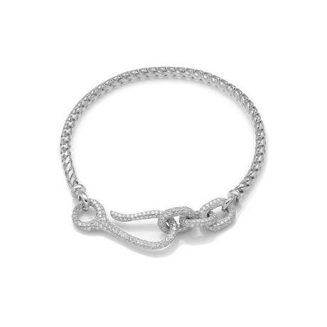 White Diamond Connected Bracelet // White Gold