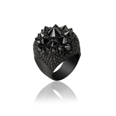 Black Diamond Cluster Ring // Black Gold (9)