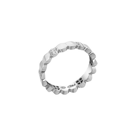 Fred of Paris Une Ile D'or 18k White Gold Diamond Ring (Ring Size: 6)