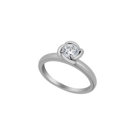 Fred of Paris Fleur Celeste Platinum Diamond Ring // Ring Size: 6.5
