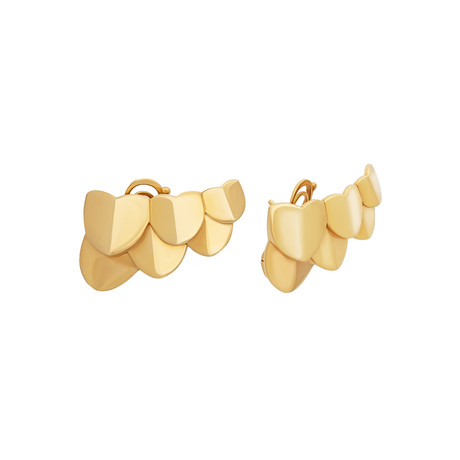 Fred of Paris Une Ile D'or 18k Yellow Gold Earrings