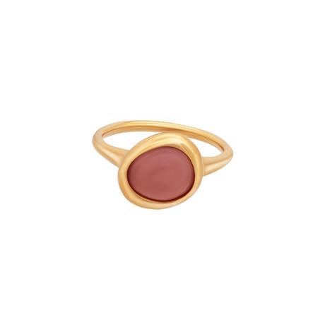 Fred of Paris Belle Rives 18k Rose Gold Pink Quartz Ring // Ring Size: 5.5