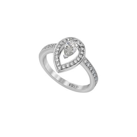 Fred of Paris Lovelight Platinum Diamond Ring // Ring Size: 6.5