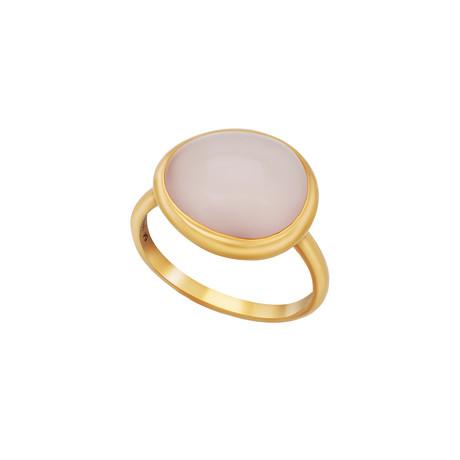 Fred of Paris Belles Rives 18k Rose Gold Pink Quartz Ring // Ring Size: 6.75