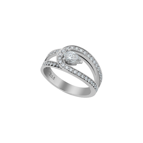 Fred of Paris Lovelight Platinum Diamond Ring I // Ring Size: 5.25