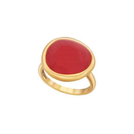 Fred of Paris Belles Rives 18k Rose Gold Rhodochrosite Ring // Ring Size: 6.25
