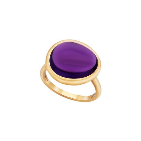 Fred of Paris Belles Rives 18k Rose Gold Amethyst Ring // Ring Size: 6.75