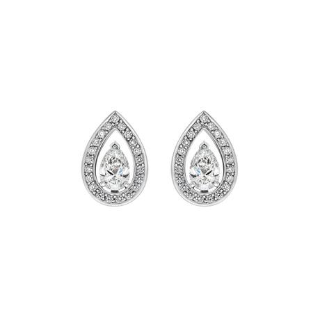 Fred of Paris Lovelight 18k White Gold Diamond Earrings II