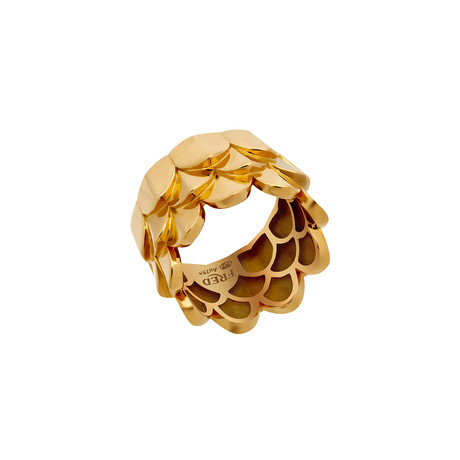 Fred of Paris Une Ile D'or 18k Yellow Gold Ring (Ring Size: 5.75)