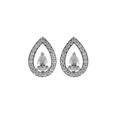 Fred of Paris LoveLight 18k White Gold Diamond Earrings I