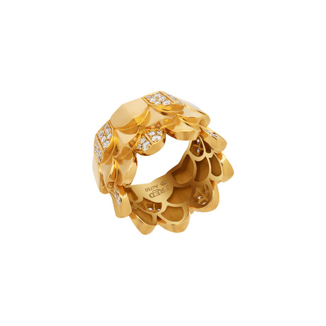 Fred of Paris Une Ile D'or 18k Yellow Gold Diamond Ring (Ring Size: 6)