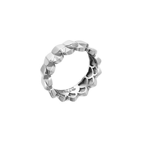 Fred of Paris Une Ile D'or 18k White Gold Ring II (Ring Size: 6)