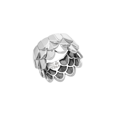 Fred of Paris Une Ile D'or 18k White Gold Ring III (Ring Size: 6)