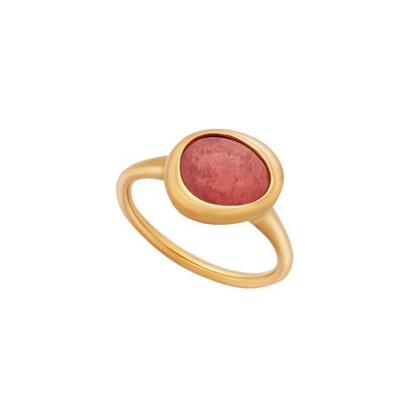 Fred of Paris Belles Rives 18k Rose Gold Rhodochrosite Ring // Ring Size: 6.5
