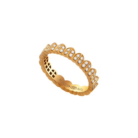 Fred of Paris Une Ile D'or 18k Yellow Gold Diamond Ring // Ring Size: 6.75