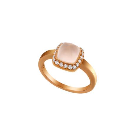 Fred of Paris Paindesucre 18k Rose Gold Diamond + Pink Quartz Ring (Ring Size: 6.5)