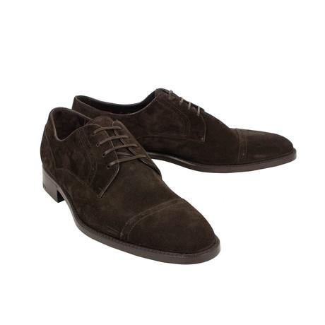 Cap Toe Derby Shoes // Brown (US: 7)