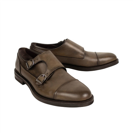 Double Monk Shoes // Brown (US: 7)
