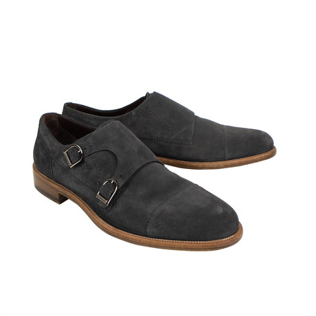 Double Monk Shoes // Gray (US: 7)