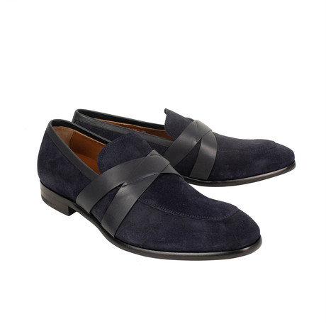Moccasin Penny Loafers // Navy (US: 7)