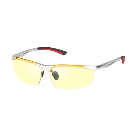 Eagle Eyes Optic // Fusion NL Night-Driving Glasses // Aluminum + Yellow