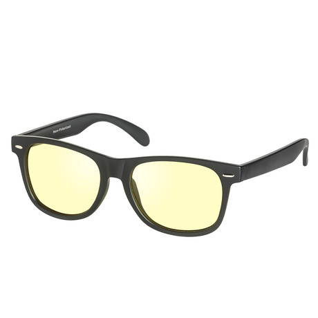 Eagle Eyes Optic // Charlie NL Night-Driving Glasses // Matte Black