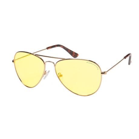 Eagle Eyes Optic // Classic Aviator NL Night-Driving Glasses // Gold